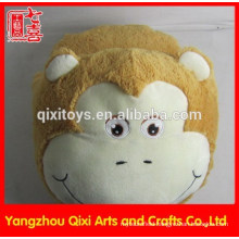 Indoor animal monkey shaped plush slipper foot massage slipper battery operated animal slipper vibrating massage slipper