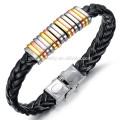 2015 new leather men bracelet titanium steel bracelet bracelet influx of male wild accessories PH866