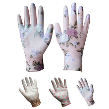 Mujeres de punto sin costuras Digging Planting guantes de Genie de mano de seguridad de trabajo impermeable