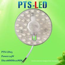 Nuevo estilo caliente venta magnético SMD 2835 CA sin conductor LED techo luz módulo 24W 220V