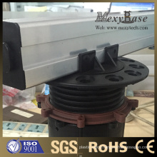 Foshan Height Adjustable Plastic Pedestal, Can Match The Aluminum Rail.