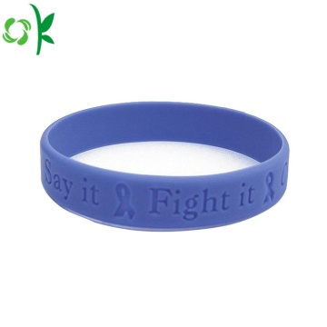 Promotional Gravert Logo Silicone Armband för present