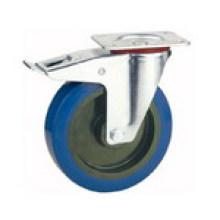 Placa superior Tipo de freio Roda de borracha industrial (KXXD-D)