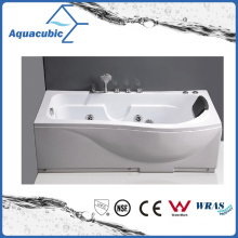Rectangle Whirlpool Bathtub with 10 Jets in White (AB0823)