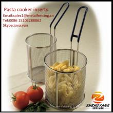 Poignée de nettoyage facile soutenant des cônes de carbonara de cône mailles de spaghetti de maille fine des insertions de cuiseur de pâtes d'acier inoxydable