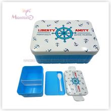 Bento Lunchbox aus Kunststoff mit Utensilien für Kinder (920ml)