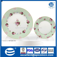 China Geschirr Keramik Porzellankuchen Stand 2 Decks