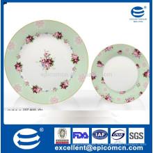 Soporte de la torta de la porcelana de la cerámica de los utensilios de cocina de China 2 cubiertas