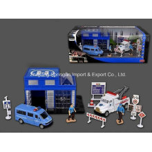 Die Cast Metal Car Play Set Toy-P/B Police Play Set