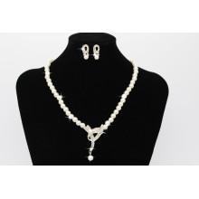 2017 magnífica perla moldeada mujeres accesorios collar anillo de oído