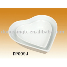 Factory direct wholesale heart shape porcelain bowl