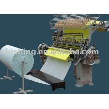mechanical multi needle lock stitch quilting machine for blankets.