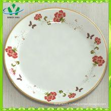 Красивые круглые дешевые белые обеденные тарелки для ресторана