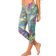 Pantalones capri Camo para mujer Woodland, Workout Outfit Crp-010