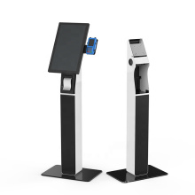 Bank/Hospital 21.5 inch POS self-service Interactive queue management kiosk with card holder