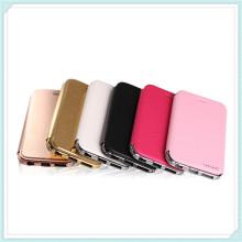 Nouveau étui en cuir de téléphone portable de flip de diamant pour l'iPhone 6