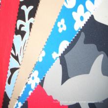 Tecido impresso colorido do cetim do algodão 300T