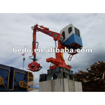 Hydraulic Crane/small wood timber station crane 008613592516014