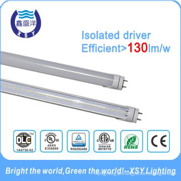 Tubos do diodo emissor de luz T8 18W 1200mm DLC UL ETL Excitador isolado 5 anos de garantia