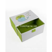 Caja de papel de cajón de embalaje de boda de alta calidad con cinta