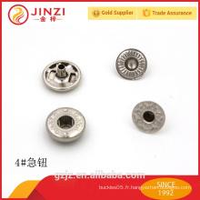 Bouton de pression métallique à chaud pour boutons en cuir