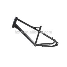 Neuer Entwurf nicht-faltbarer schwarzer Aluminiumlegierungsrahmen für 20 Zoll fetten reifen Fahrrad