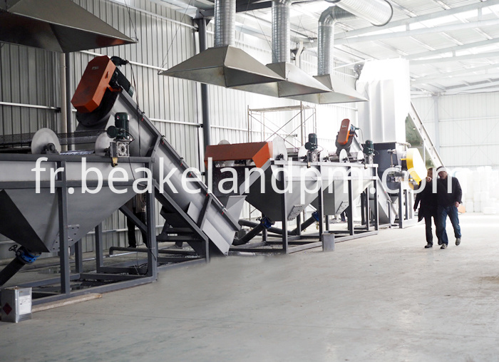 Plastic Crushing Washing Drying Line