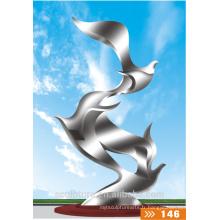 Sculpture en acier inoxydable 304 grandes sculptures métalliques modernes grand oiseau sculptur extérieur à vendre