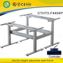 Elektrischer beweglicher beweglicher Tisch der Knopfsteuerung 2 höhenverstellbarer Computer-Stehpult des Sitzes