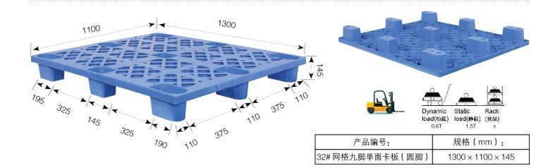 The Grid Nine Feed Plastic Pallet