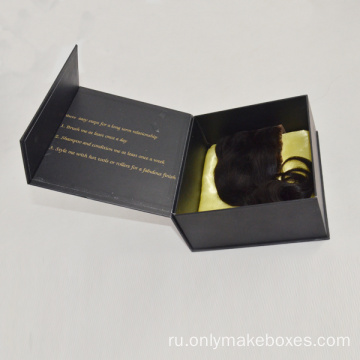 Matte+Black+Hair+Extension+Box+With+Magnetic+Closure