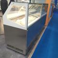 Gabinete de exhibición de inmersión de helado italiano Gelato 12Pans