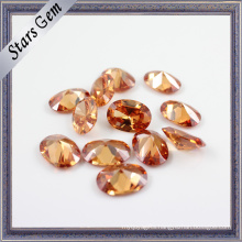 Champagne Color Oval Brilliant Cubic Zirconia for Jewelry