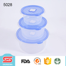 Umweltfreundlicher pp Plastikmikrowellennahrungsmittelspeicherbehälter mit Abdeckung