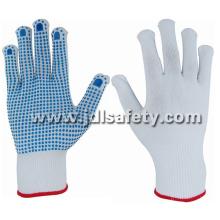 Gants en nylon avec PVC noire pointée Palm (S5103-2)