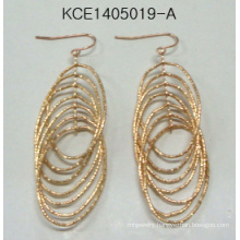 Multi Layer Earrings with Gold Fashion Jewelry