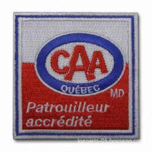 Embroidered Patches/Labels with Reflective Fabric, Available in Various Designs and Types