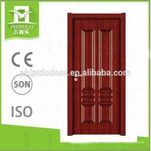 Puerta de melamina HDF de diseño moderno popular en el mercado de la India