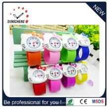 Квадратный Slap наручные часы кремния светодиодные часы для детей (DC-1063)