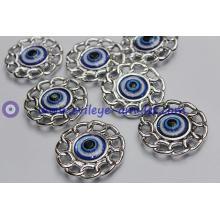Lace round resin pendant evil eye charm wholesale