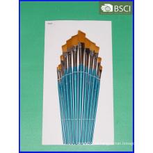 Sistema de cepillo de madera del artista de la manija 12PCS (AB-074)
