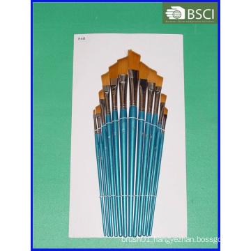 12PCS Wooden Handle Artist Brush Set (AB-074)