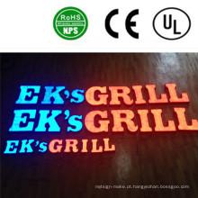 LED de alta qualidade ao ar livre / interior iluminado carta sinais