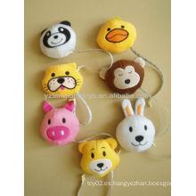 Los juguetes animales encantadores de la felpa de los 5cm con el portable