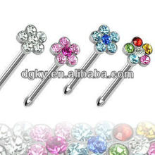 Beautiful Nose Piercing Jewelry Flower Nose Stud
