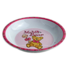 8inch Runde Melamin Kids Suppenschüssel mit Logo