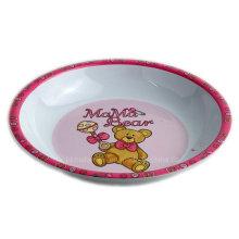 8inch Round Melamine Kids Soup Bowl with Logo