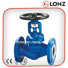 Stainless Steel 1.4301 DIN Flanged Bellow Seal Globe Valve