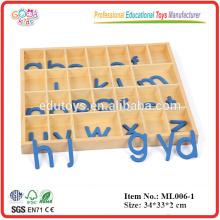 Bildung Spielzeug Produkte Wooden Movable Alphabet