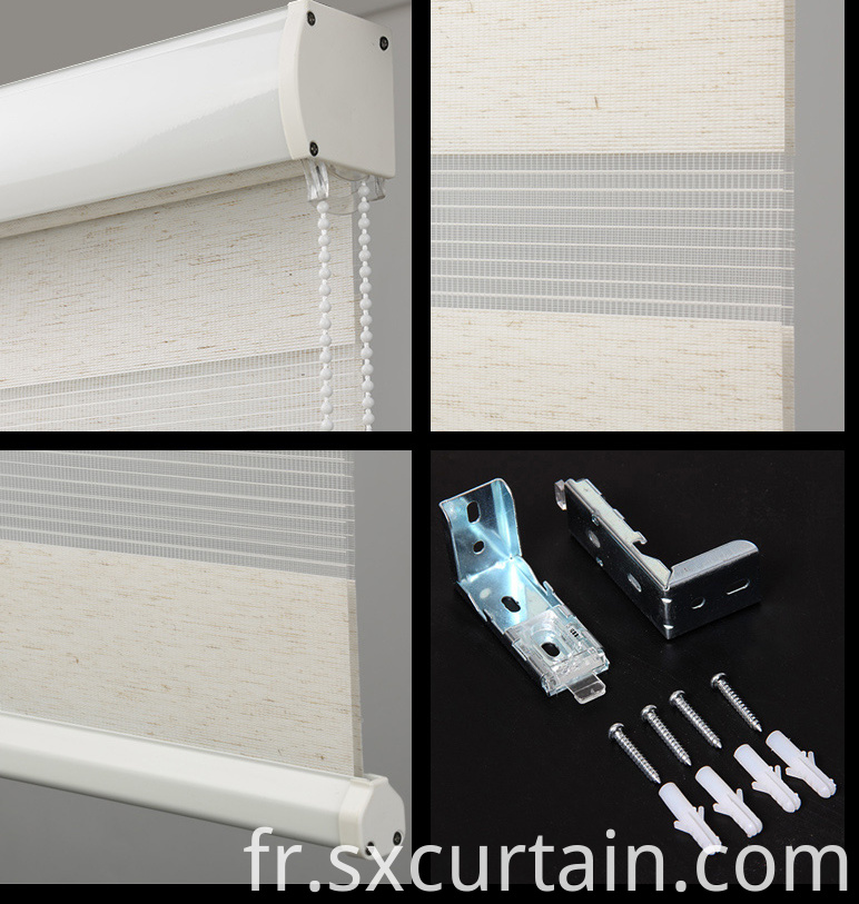 Roller Zebra Blind Curtain Shade